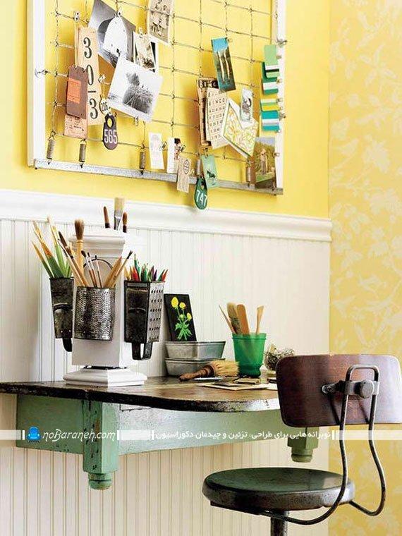 چیدمان اتاق کار منزل به شکل ساده