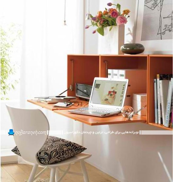 مدل میز کار خانگی تاشو دیواری