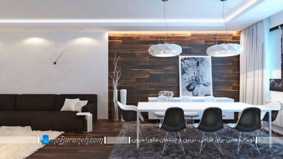 تزیین دیوارهای داخلی با دیوارپوش چوبی / عکس