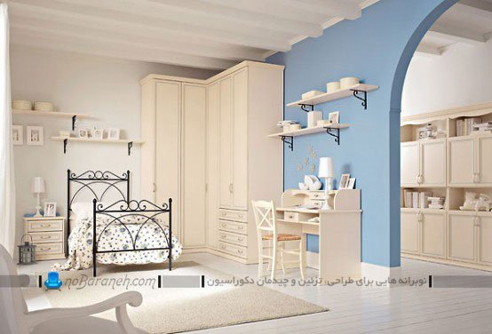 اتاق خواب کودکان و نوجوانان با دکوراسیون شیک و کلاسیک