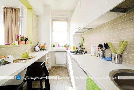 چیدمان و کابینت های مناسب آشپزخانه کوچک / عکس