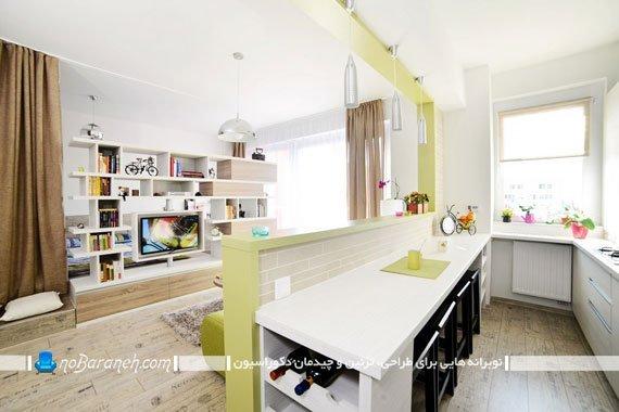 طراحی دکوراسیون آشپزخانه کوچک و کشیده