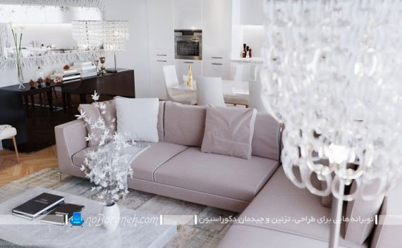 چیدمان ال در اتاق پذیرایی / عکس