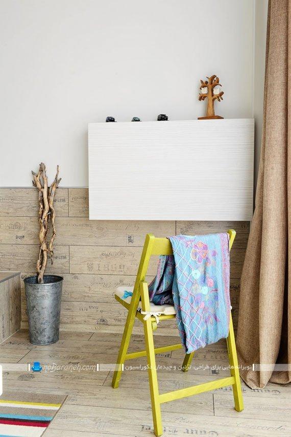 دیوارپوش و کفپوش چوبی شیک / عکس