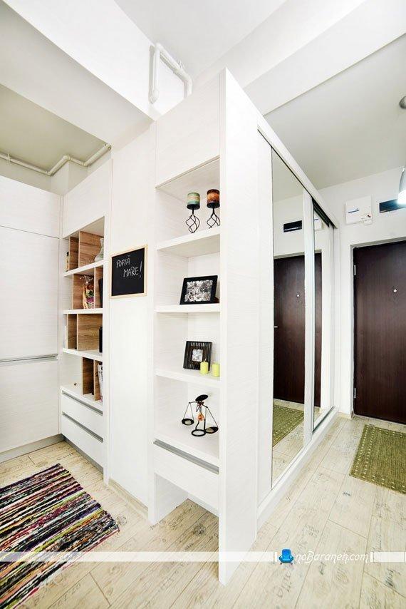 دیزاین هال و راهرو ورودی منزل کوچک
