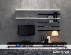مدل های نصب شلف دیواری در کنار تلویزیون