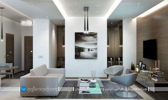 دیزاین مدرن و زیبا در خانه کوچک یک خوابه / عکس