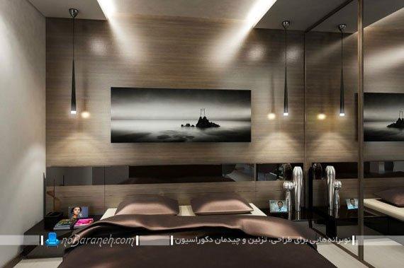 طراحی دکوراسیون و دیزاین مدرن اتاق خواب در خانه آپارتمانی کوچک