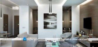 طراحی دکوراسیون و دیزاین مدرن در خانه کوچک یکخوابه
