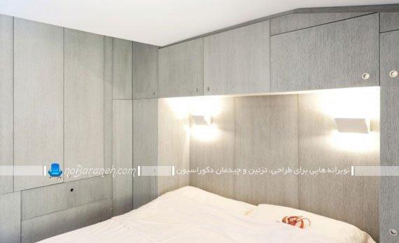 مدل چیدمان و معماری اتاق خواب خیلی کوچک