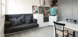 طراحی داخلی ساده و مینیمالیستی در خانه کوچک دانشجویی
