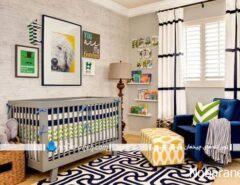 عکس تزیینات شیک و زیبا برای اتاق نوزاد پسر