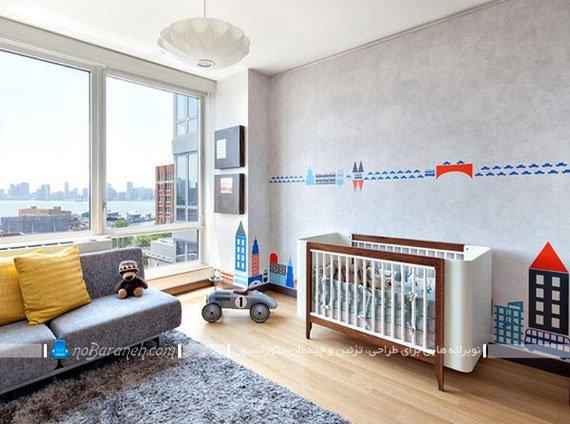 طراحی دکوراسیون شیک و جذاب در اتاق نوزاد
