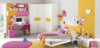 دیزاین دخترانه و شیک در اتاق خواب نوجوانان