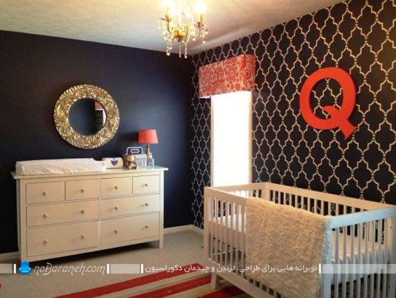 طراحی دکوراسیون سلطنتی اتاق خواب و سیسمونی نوزاد
