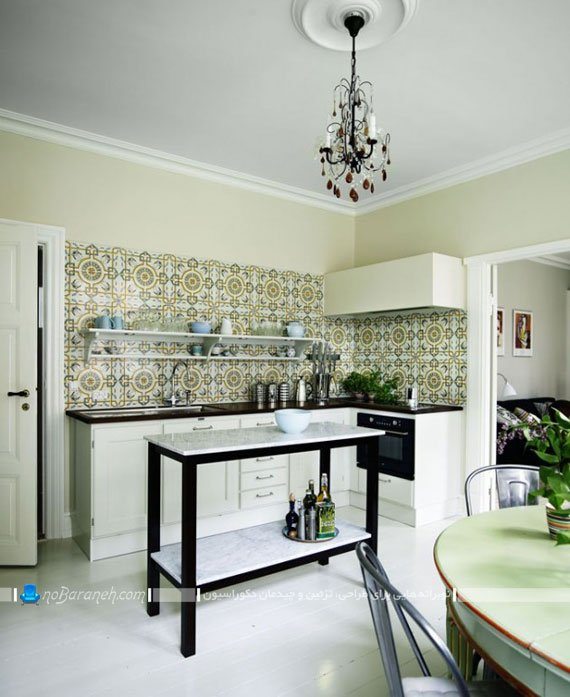 مدل کاشی های طرح دار آشپزخانه / عکس