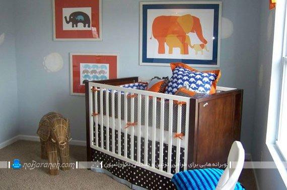 تزیین اتاق نوزاد پسر با روشهای متنوع