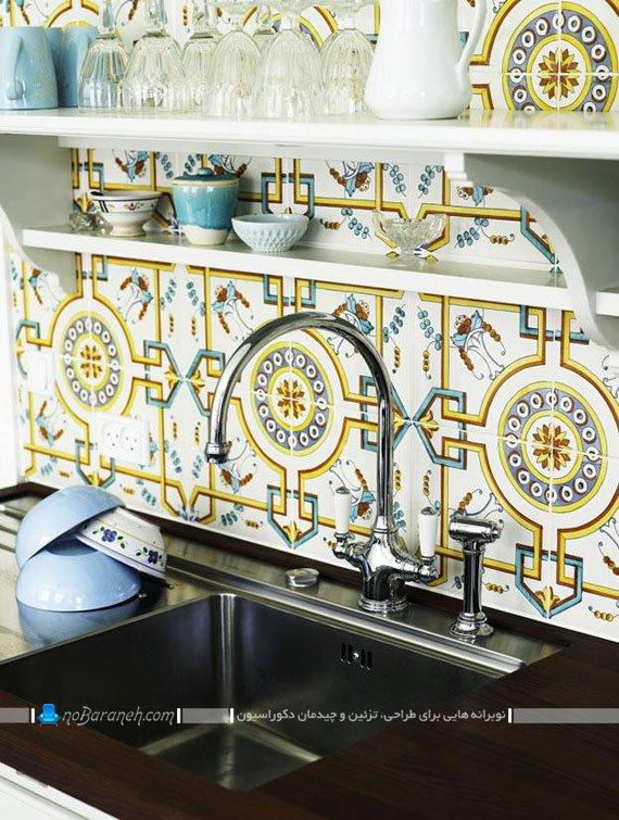 طرح جدید کاشی فانتزی و بین کابینتی آشپزخانه