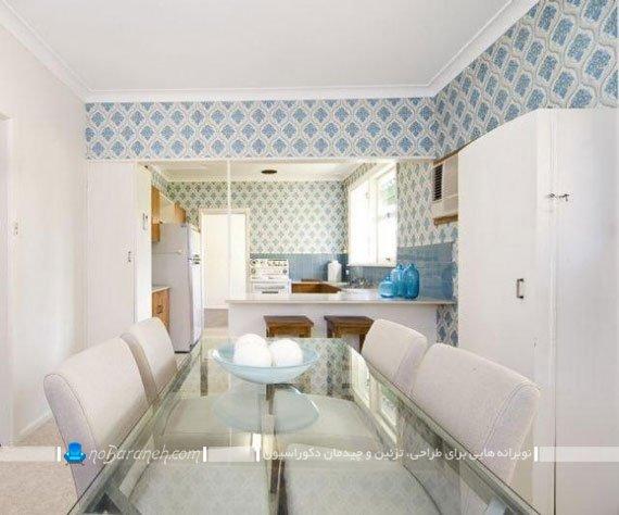 سرامیک و کاشی دیواری طرح دار آشپزخانه / عکس