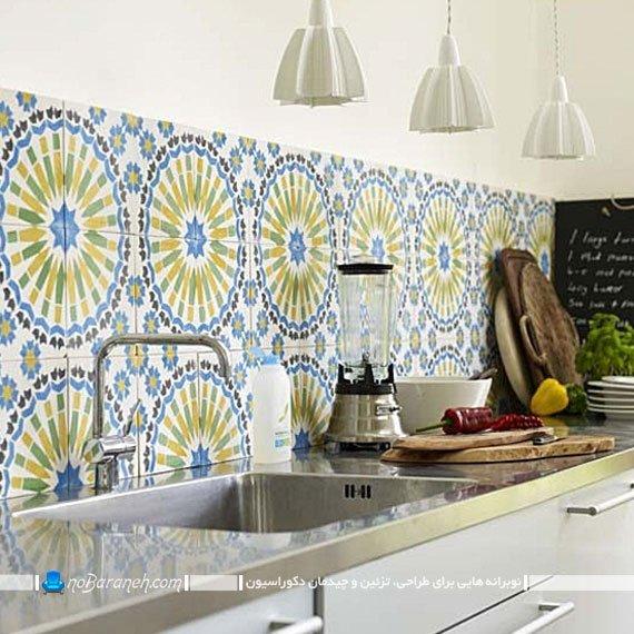 کاشی دیواری فانتزی و طرح دار برای آشپزخانه