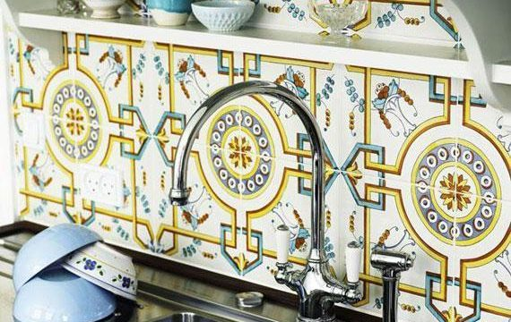 مدل کاشی و سرامیک طرح دار برای آشپزخانه