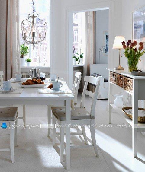 چیدمان و تزیین میز ناهار خوری ایکیا