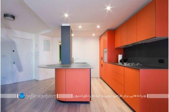 رنگ نارنجی در دیزاین آشپزخانه