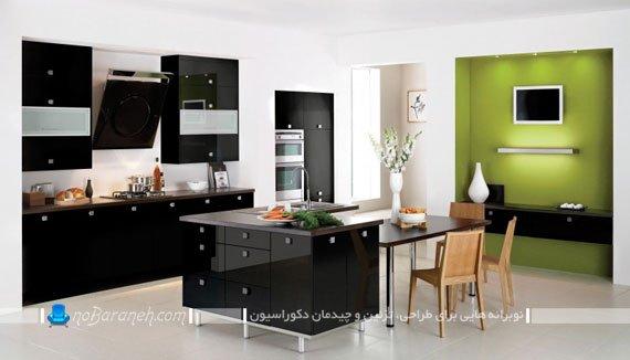 مدل کابینت های سیاه رنگ هایگلاس / عکس