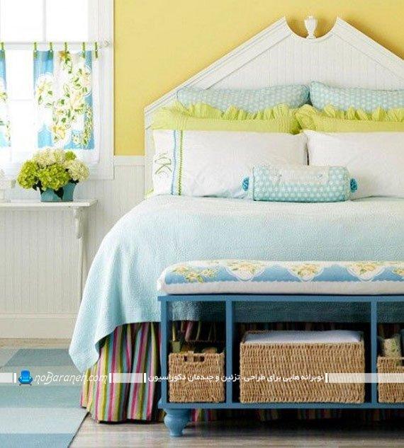دیزاین اتاق خواب با زرد و سبز / عکس