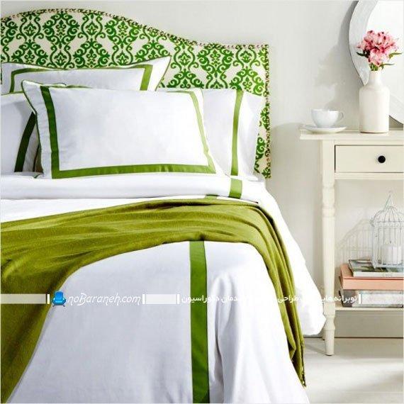 اتاق خواب با تزیینات سبز رنگ / عکس