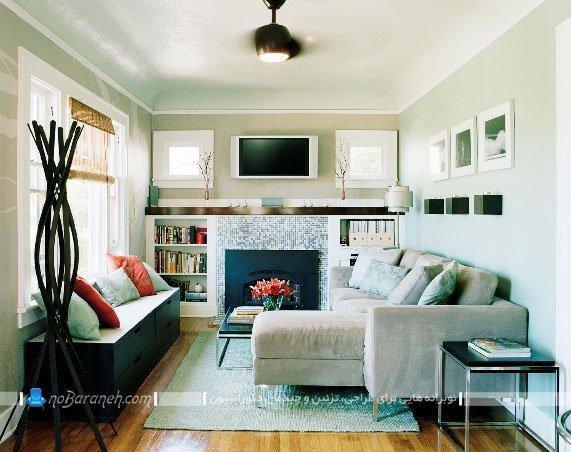 چیدمان و دیزاین اتاق پذیرایی کوچک