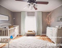 طراحی دکوراسیون اتاق کودک نوزاد دختر
