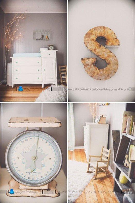 تزیین اتاق نوزاد دختر با تزیینات ساده
