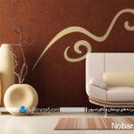 استیکرهای دیواری با طرحهای ساده برای اتاق خواب و پذیرایی