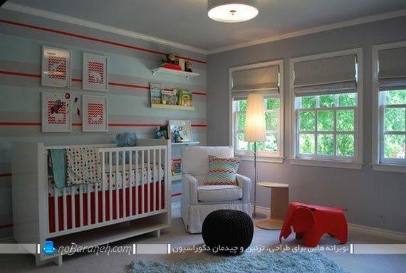 تزیین اتاق بچه با کاغذ دیواری