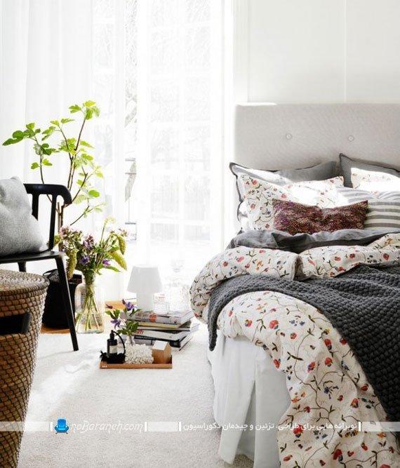 تزیین شیک اتاق خواب با رنگ های روشن / عکس