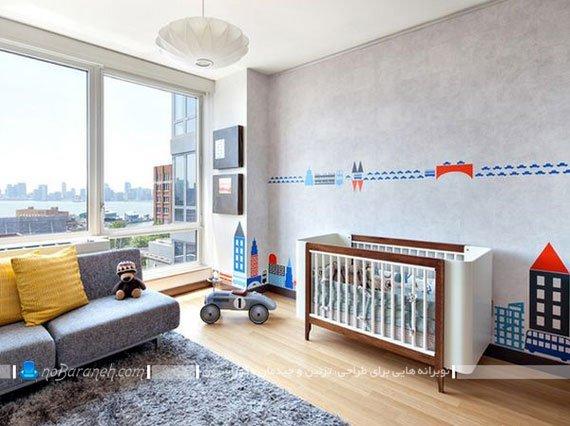 دیزاین شیک و مدرن اتاق کودک