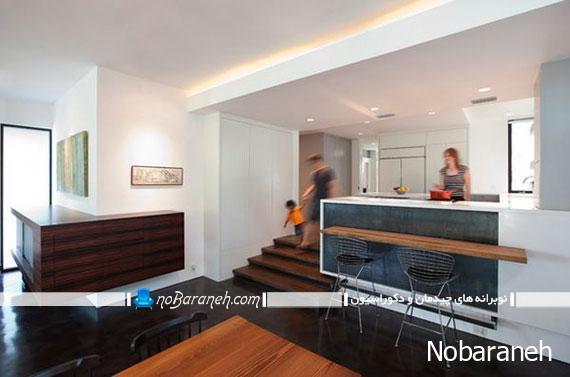 مدل های پیاده سازی معماری نیمه دوبلکس در خانه نوبرانه