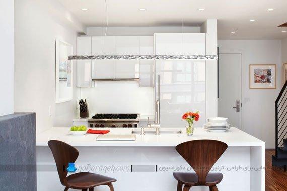 تزیین اپن آشپزخانه با رنگ های شاد / عکس