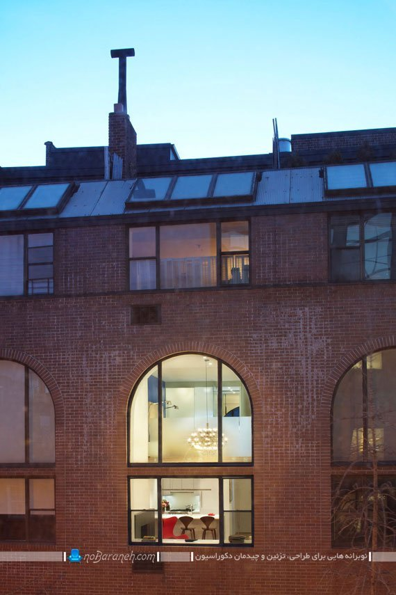 نمای آجری و کلاسیک ساختمان قدیمی