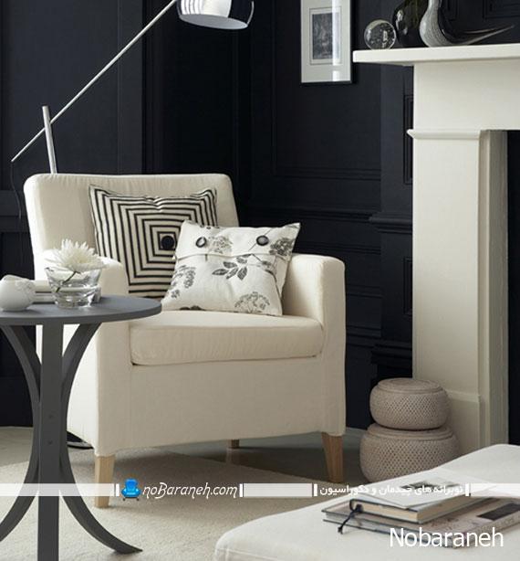 طراحی دکوراسیون داخلی خانه با رنگ های سیاه و سفید