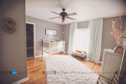 طراحی دکوراسیون اتاق نوزاد دختر