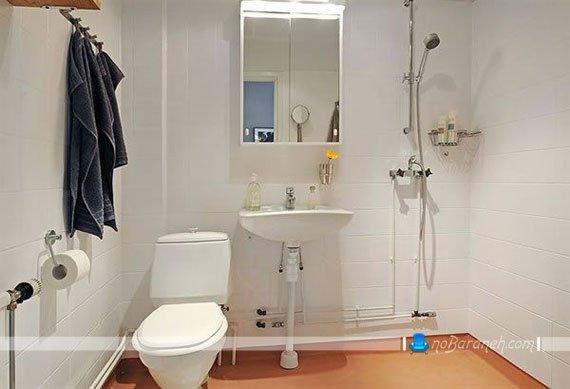 طراحی دکوراسیون حمام با رنگ سفید