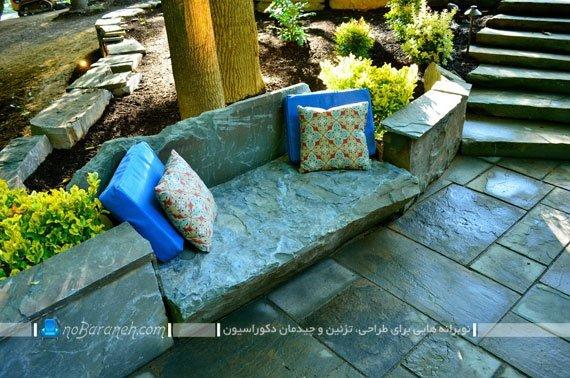 دکوراسیون حیاط خانه ویلایی
