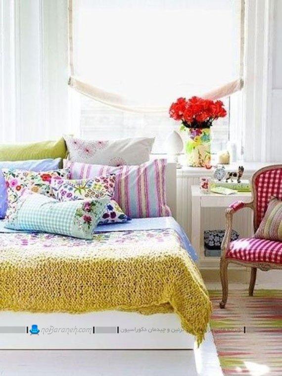 تزیین اتاق خواب با ترکیب رنگ های شاد / عکس