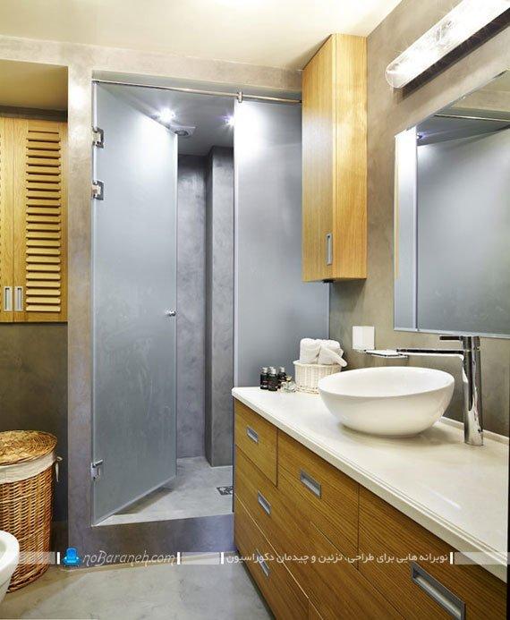طراحی دکوراسیون مدرن سرویس بهداشتی / عکس