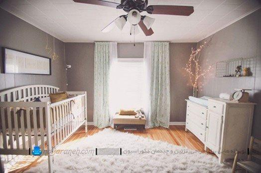 تزیین ساده اتاق نوزاد دختر