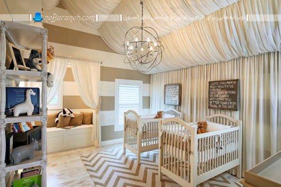 تزیین اتاق کودک نوزاد با اشکال هندسی