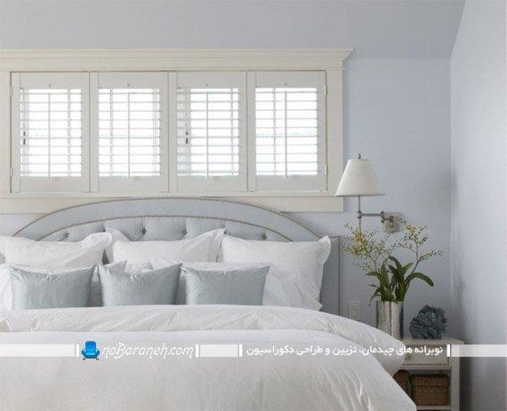طراحی دکوراسیون اتاق خواب با رنگ روشن و سفید / عکس