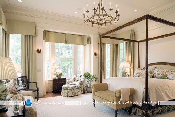 طراحی دکوراسیون اتاق خواب با تزیینات کلاسیک و ساده
